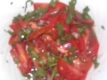 Tomatensalat mit Rucola - Rezept