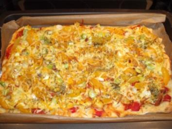 Hühnchen-Curry-Pizza - Rezept