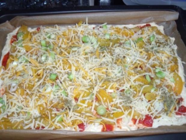 Hühnchen-Curry-Pizza - Rezept - Bild Nr. 3