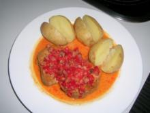Schweinsmedaillons in Paprika-Speck-Soße - Rezept