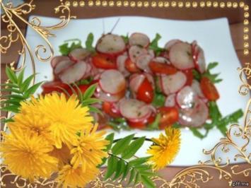 Salate : Rucola-Tomatensalat - Rezept