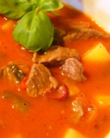Suppe --- Scharfe Pfeffersuppe - Rezept