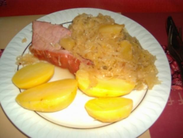 Kassler mit Ananas Sauerkraut - Rezept