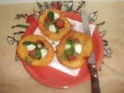 Mini-Pizzen aus Kartoffelteig - Rezept