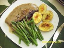 Fleisch:  Steak vom Charolaixrind mit Honig-Pfeffer-Glasur - Rezept