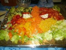 Italienische Salatplatte mit Mozzarella - Rezept - Bild Nr. 2