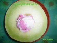 Zwischenmahlzeit: Melone füllt sich mit Eis - Rezept
