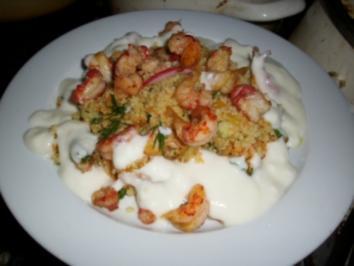 Couscous-Salat mit Flusskrebsen - Rezept