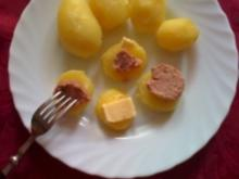 Pellkartoffeln mit Leberwurst - Rezept