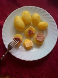 Rezept: Pellkartoffeln mit Leberwurst