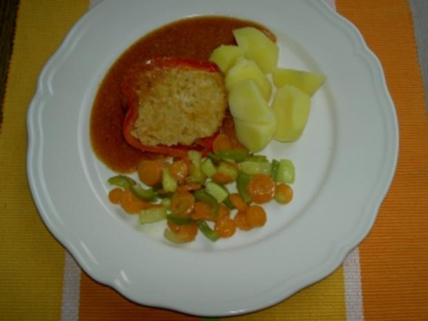 Hauptgericht  -  gefüllte Paprika - Rezept