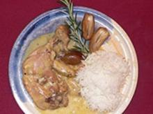 Karamellisierte Hähnchenschenkel in Knoblauch-Rosmarinsoße - Rezept