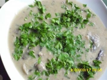 Suppe:  Champignonsuppe - Rezept