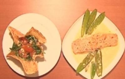 Salat in Parmesanschälchen und Lachs mit Zitronenmousse - Rezept - Bild Nr. 9