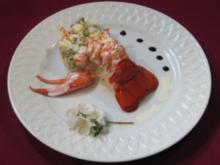 Hummer auf russischem Salat - Rezept