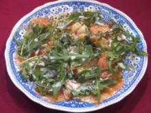 Lachs-Carpaccio, lauwarm - Rezept