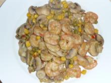 Champignon - Gemüse - Scampi - Pfanne - Rezept