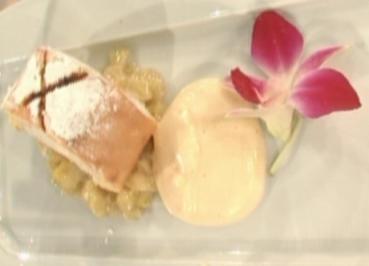 Rezept: Biskuitrolle mit Durian und Tonkabohne a la Zacherl