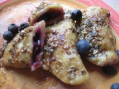 Kartoffel-Ravioli mit Heidelbeeren - Rezept