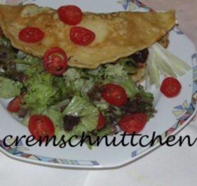 Pfannkuchen mit Salat - Rezept - Bild Nr. 2
