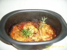 Hähnchenbrust auf Zucchini - Gemüse - Rezept