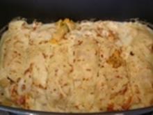Pfannkuchen gefüllt mit  Gemüse der Saison - Rezept
