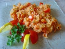 Sauerkraut-Salat mit Paprika und Ajvar... auch für Diabetiker - Rezept