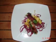 Kaninchenfilets auf Apfelingwerkompott - Rezept