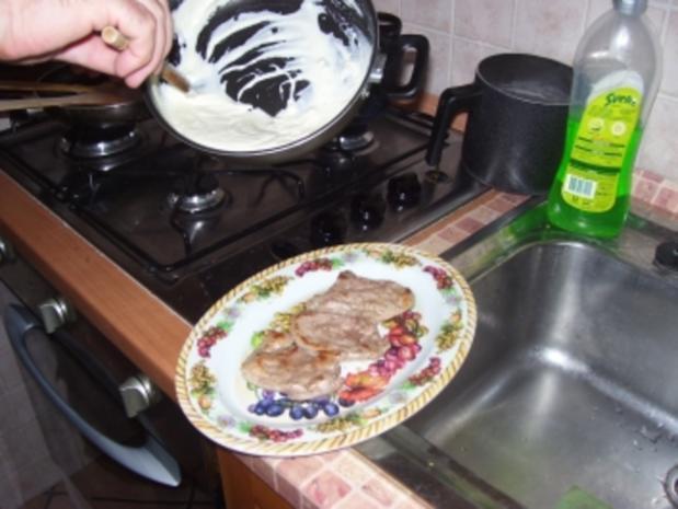 Flambiertes Schweinefilet in Gorgonzola - Rezept - Bild Nr. 2