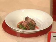 Lammkarree mit Weinbergschnecken und Schlangenbohnen (Claudia Kleinert) - Rezept