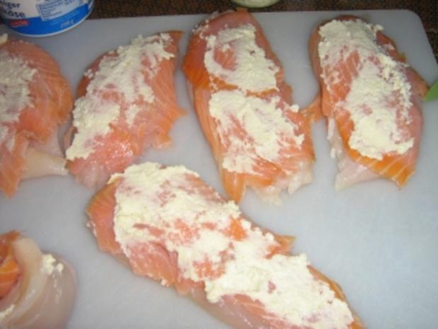 Hähnchenbrustrolladen im Speckmantel  überbacken - Rezept - Bild Nr. 5