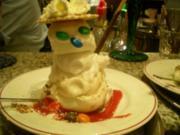 Eis: Schneemann aus zitroneneis - Rezept