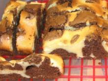 Käsesahne Brownies oder als Muffins - Rezept