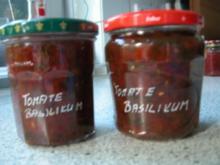 Tomaten - Basilikum - Chutney - Rezept