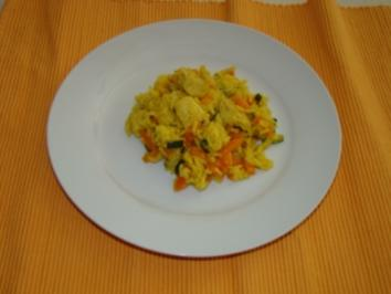 Gemüse - Reis - Pfanne mit Pute - Rezept