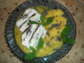 Stracciatellaeis mit Mango - Rezept