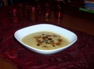 Kürbis-Kokos-Curry-Suppe - Rezept