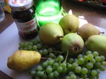 Birnen-Trauben-Mus - Rezept