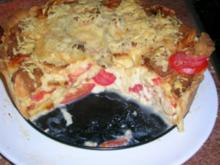 Käsewähe (für Nicht-Schweizer = Käsekuchen mit Tomaten aber HERZHAFT!) (siehe Fotos) - Rezept