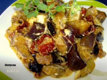 Sommerliches Auberginen-Zucchini-Gemüse - Rezept