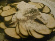 Zucchinisalat mit Dillcreme - Rezept