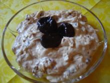 Quark-Dessert mit Trockenpflaumen (Backpflaumen)... - Rezept