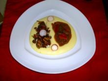 Roastbeef geschnetzeltes mit Paprika in Sherry - Rezept