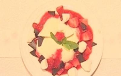 Joghurtmousse mit Erdbeeren - Rezept