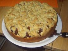 Zwetschgenkuchen mit Butter-Zimt-Streuseln - Rezept