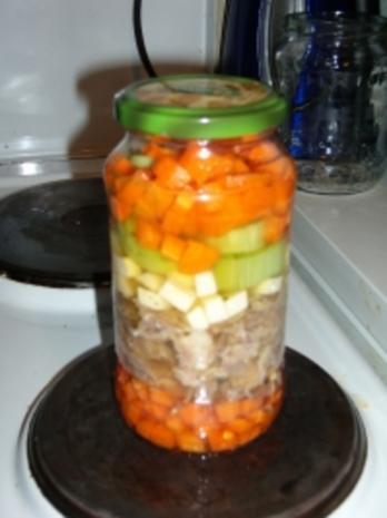 Suppe eingekocht, mit Schweinefleisch und Gemüse - Rezept - Bild Nr. 9