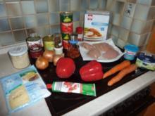 Chiliauflauf mit Hähnchenbrustfilet - Rezept