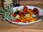 Gegrillte Paprika in Balsamico Vinaigrette - Rezept