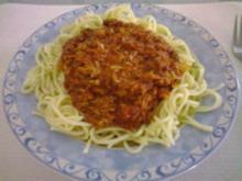 Tomaten- Thunfisch-Soße - Rezept