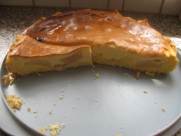 Apfel-Quark-Kuchen gedeckt - Rezept